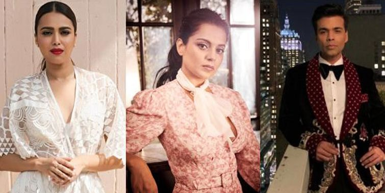 Kangana Slams Swara Bhaskar For Supporting Karan Johar In Nepotism Row