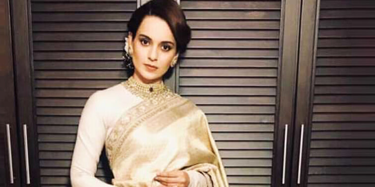 Kangana Ranaut Raises The Fashion Acuity In Beige And White