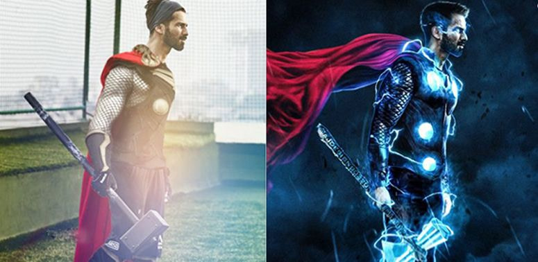 Shahid Kapoors Fans Title Him As The Indian THOR and Twitter Can't Help But Photoshopped Him