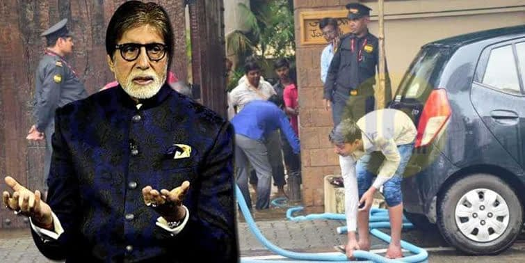 Mumbai Monsoon Exclusive Amitabh Bachchan's Bungalow (Janak) Flooded; Watch Now!